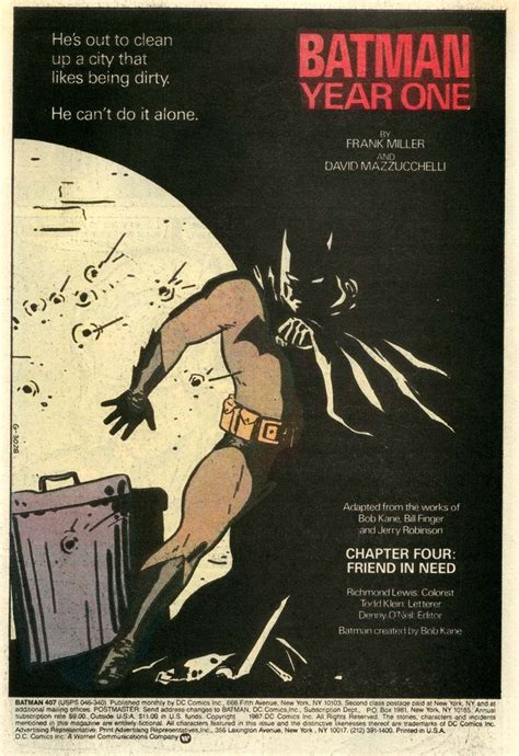 batman year one b0064w65so batman year one house ads by david mazzucchelli batman overload batman year one
