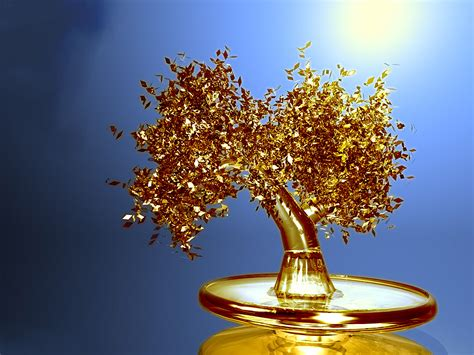 gold tree wallpaper free wallpapers