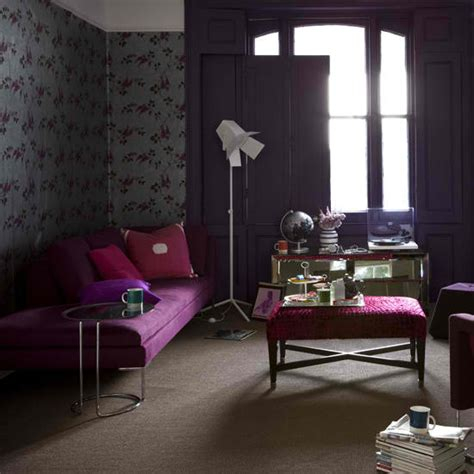 purple room decor 20 purple living rooms decoholic