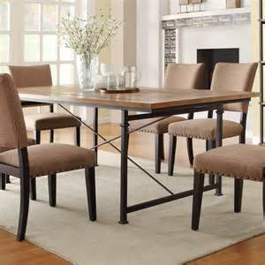 Wrought Iron Dining Room Sets Homelegance Derry 7 Dining Room Set W Wrought Iron Base Beyond Stores