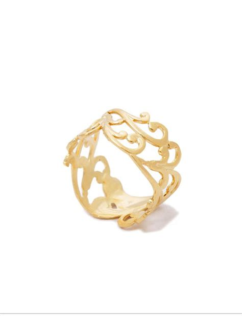 valentines ring s day filigree ring gold ring lace ring