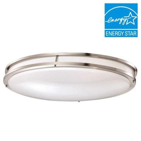 Low Profile Ceiling Light Led Envirolite 24 In Brushed Nickel White Low Profile Led Ceiling Light 12 Pack Ev1424l30 35 12
