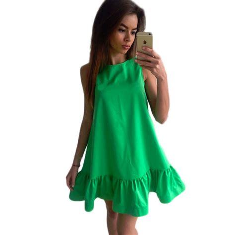 Sleeveless Ruffles Dress summer sleeveless ruffles dress thedashiki