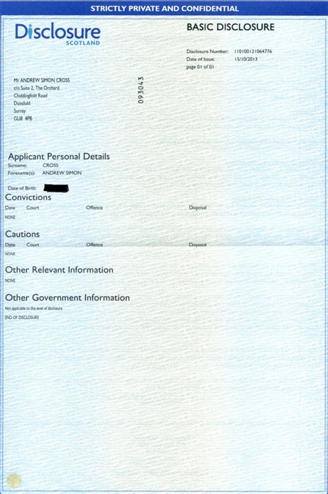 Basic Criminal Record Check Uk Andrew Cross Criminal Records Clearance