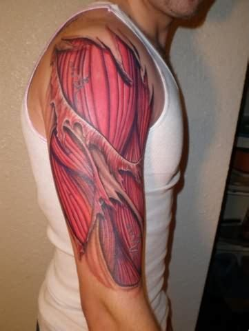 muscle tattoo designs tattoos that automatically give you muscles ripped arms