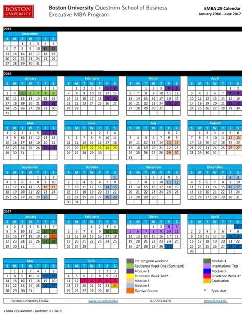 Csu Mba Schedule by Of San Francisco Academic Calendar Printable