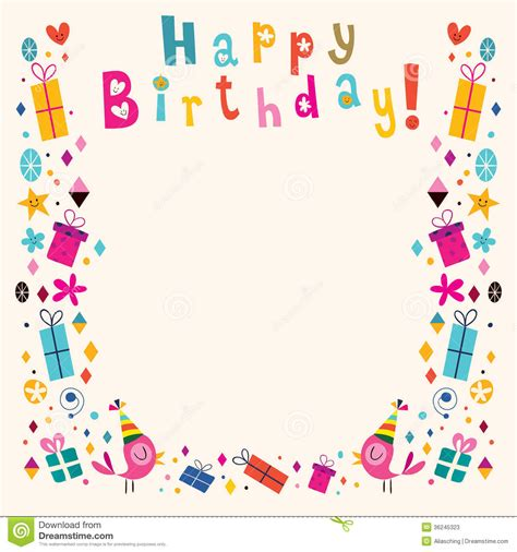 picture frame birth day card template happy birthday borders clipart clipart suggest
