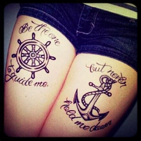 couple anchor tattoo meaning i like the quote and the meaning the 2 symbols