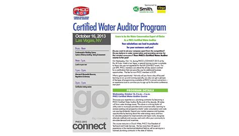 National Association Of Plumbing Heating Cooling Contractors by Become A Water Auditor 2014 03 17 Plumbing And Mechanical