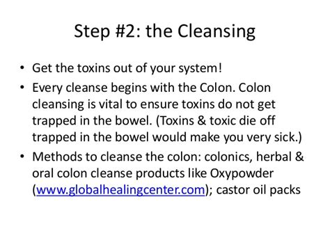 How To Detox Your With Castor Orally by Basic Cleansing Techniques A Detox Guiede For Beginners