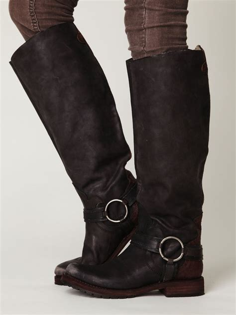 over ankle boots motorcycle omg i want these tall biker boots nails hairs and