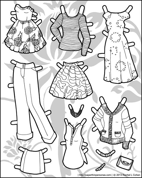 How To Make Paper Doll Clothes - 171 primrose a new poppet printable paper doll