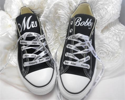 Wedding Shoes Converse by Custom Wedding Converse Personalized Mrs By