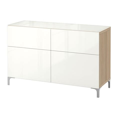 besta drawers best 197 storage combination with drawers white stained oak effect selsviken high