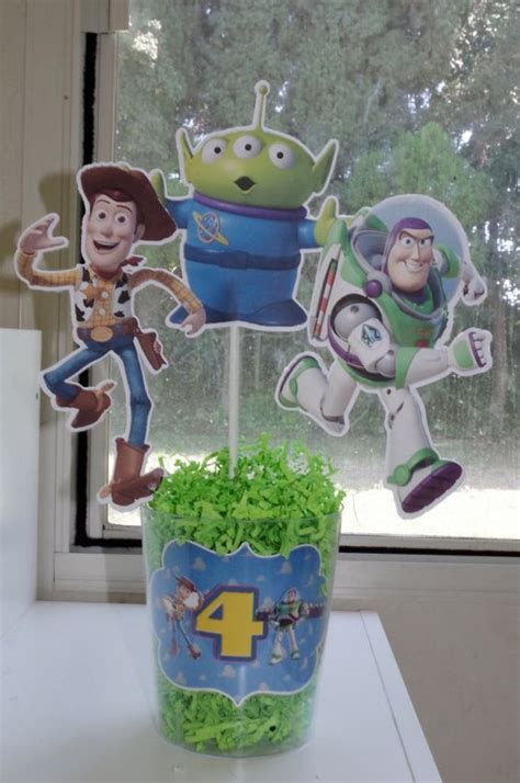 story centerpiece with buzz lightyear woody and