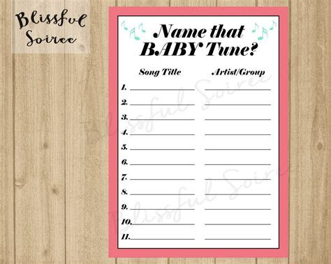 Baby Shower Songs With The Word Baby by Name That Baby Tune Name That Tune Baby Shower