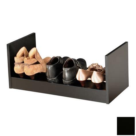 lowes shoe storage shop venture horizon black wood shoe storage at lowes
