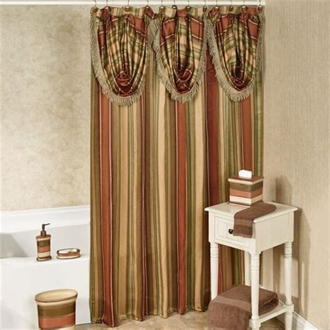 contempo curtains contempo striped shower curtain with valance