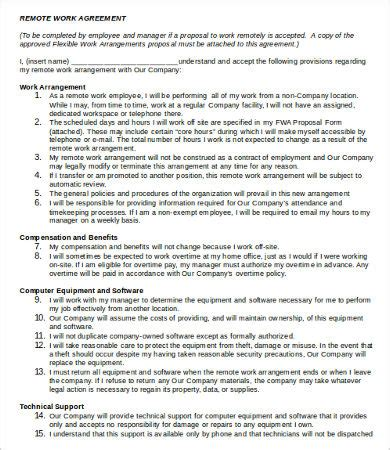 work agreement template 9 free word pdf documents