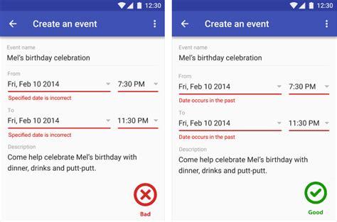 ui pattern error messages mobile ux design user errors
