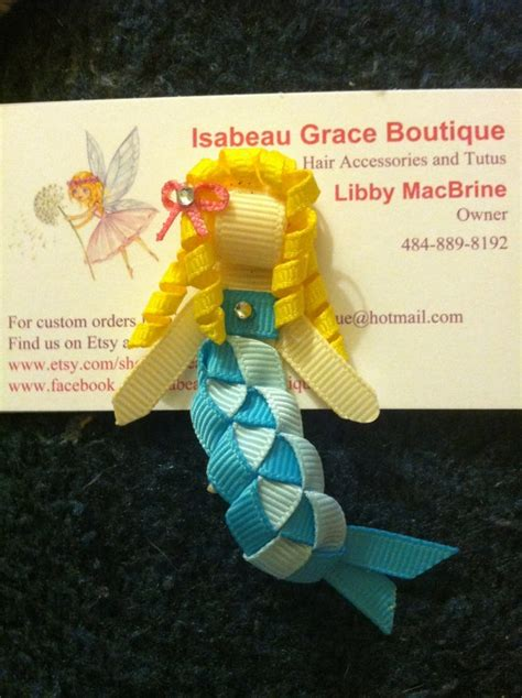 how to make ribbon sculpture mermaid ribbon sculpture mermaid clip by isabeaugrace on etsy 4