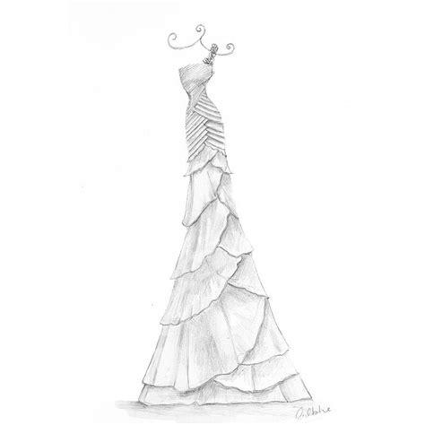 brautkleider zeichnungen pencil wedding dress portrait by appleberry press