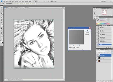 tutorial photoshop sketch photoshop tutorial create a pencil sketch from a photo
