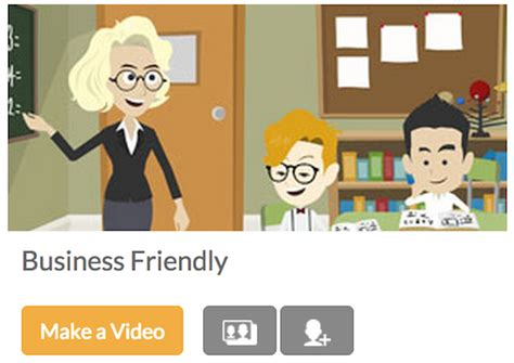 site update introducing business friendly in goanimate