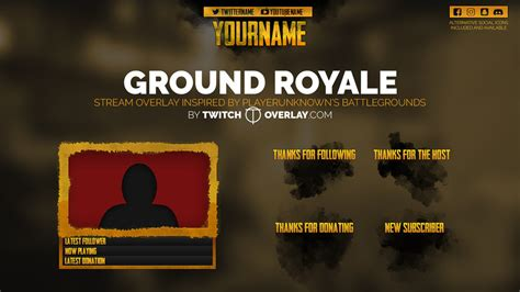 discord overlay pubg ground royale stream overlay added to free downloads