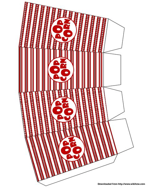 How To Make A Popcorn Box Out Of Paper - of popcorn template clipart panda free clipart