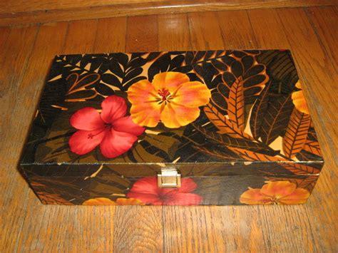 fabric coverd box  wooden box decorating   sew