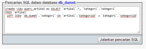 cara membuat query dalam database cara membuat query dalam mysql kursus web programming