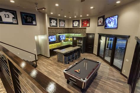 man cave contemporary basement salt lake city by