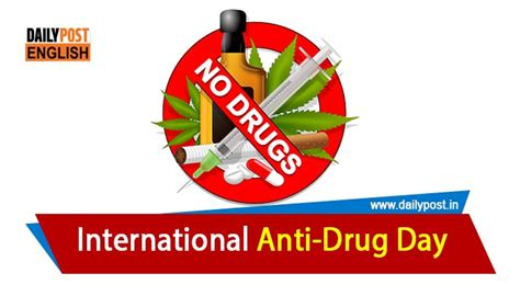 say no to drugs on this international anti drugs day