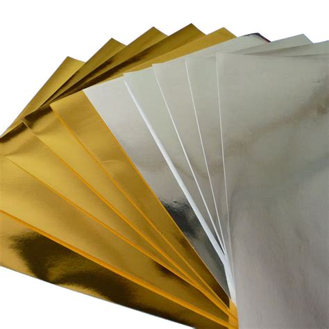 Silver Craft Paper - gold silver paper pack craft a4 pk10