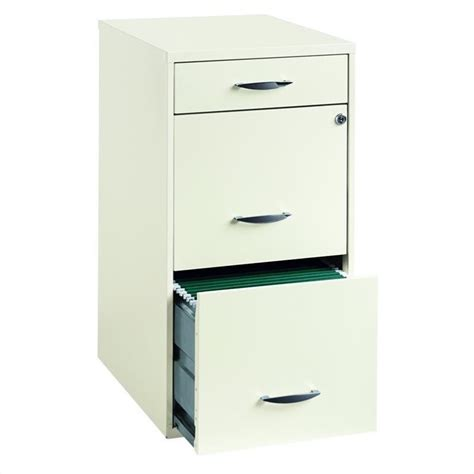 hirsh industries 18 quot 3 drawer steel file white filing