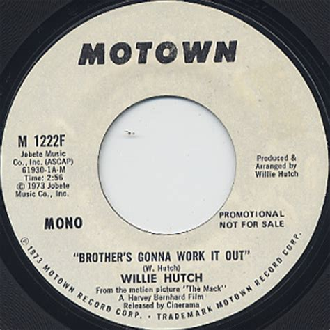 Willie Hutch Brothers Gonna Work It Out willie hutch s gonna work it out 7inch motown 中古レコード通販 大阪 root records 45