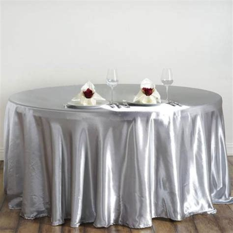 10 pcs 120 quot satin tablecloths for wedding reception decorations wholesale ebay
