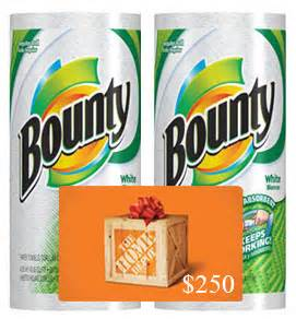 Home Depot Gift Card Help - bounty paper towels and 250 home depot gift card giveaway