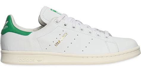 Adidas Originals Adidas Leather Green P 729 by Lyst Adidas Stan Smith Basket Weave Green In White For