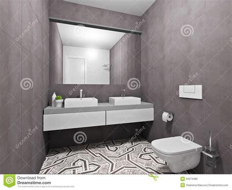 Graues Badezimmer by Modisches Graues Badezimmer Stockfoto Bild 53373480