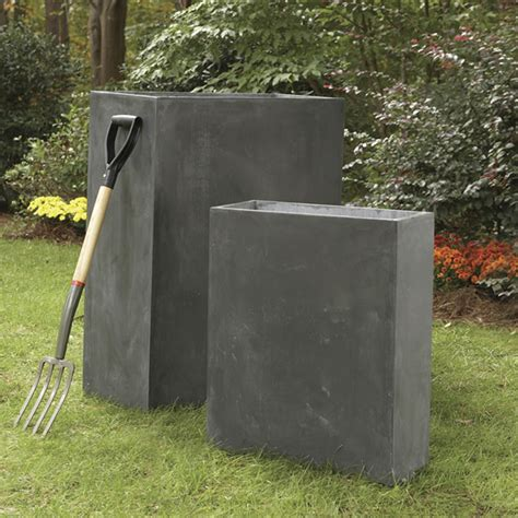 Narrow Planter Boxes by Estate Planters Light Weight Fiberclay Narrow