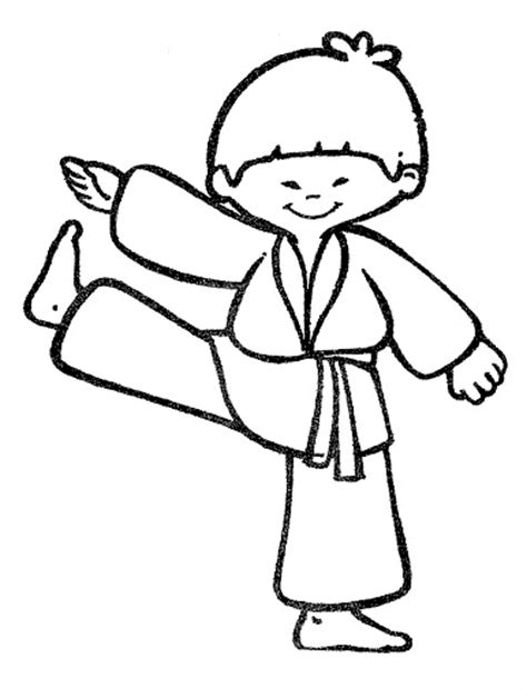 coloring page karate the karate kid colouring pages