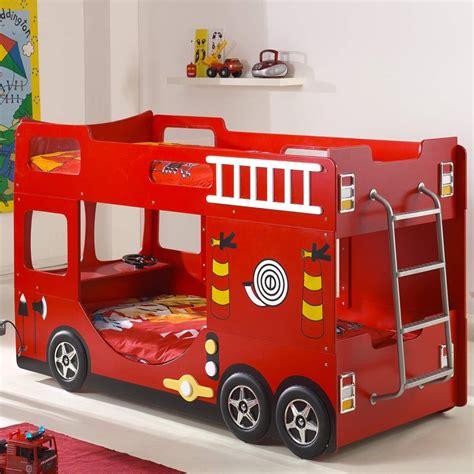 Charmant Chambre A Coucher Rouge #4: lit-superpose-enfant-pompier-rouge.jpg