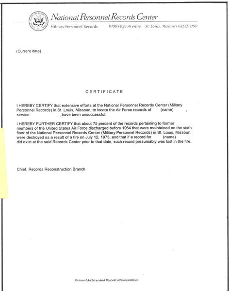 Aetc Official Letterhead Figure9 Sle Certificate Attesting To Probable Lossof Desired Air Images Frompo