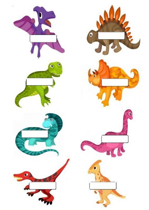 Dinosaur Name Tags 8 To A Page Dinosaur Theme Pinterest Dinosaur Theme Preschool School Dinosaur Name Tag Template