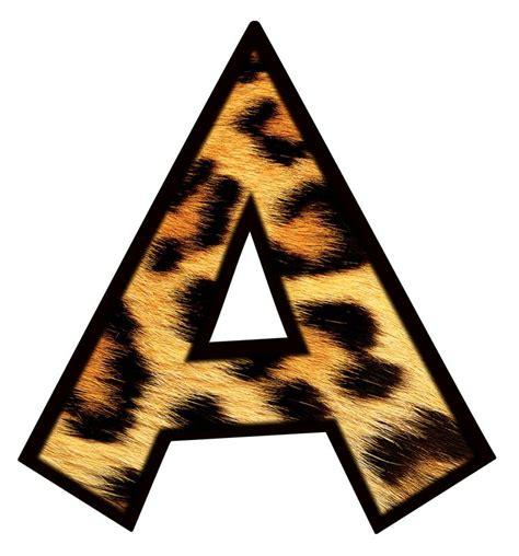 leopard pattern font animal print letters printable clipart best