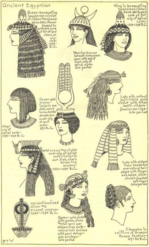 22 best images about Ancient Egyptian hairstyles on Pinterest   Egyptian hairstyles, Hairstyles