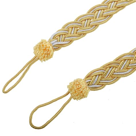 pair of curturn tiebacks rope tie decorative holdback cord