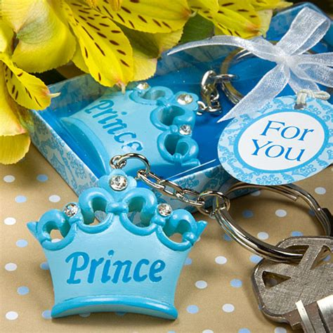 Royal Themed Baby Shower Favors by 60 Blue Crown Themed Prince Key Chains Baby Shower Favors